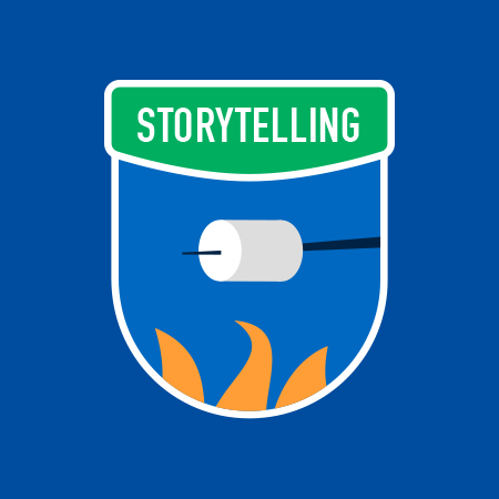 Badge storytelling